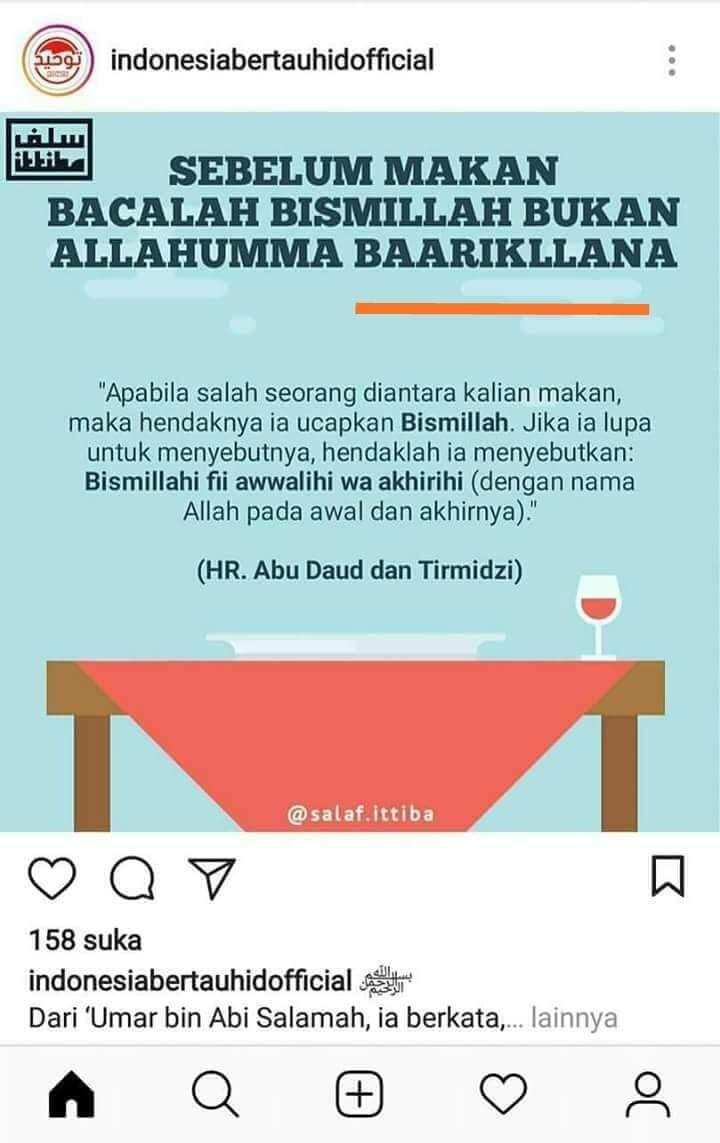 "Ketika Doa ""Allahumma Bariklana"" Pun Dipersoalkan"